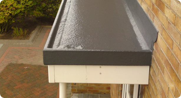... Porch canopy with an internal outlet. Right. Fibre Glass Flat Roofing London : flat roof canopy - memphite.com